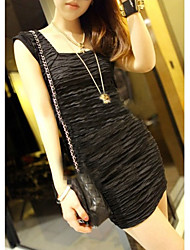 Women's Dresses , Cotton/Polyester Sexy/Casual/Cute Fashiongirl