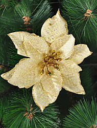 Christmas Tree Decoration Golden Flower Ornament