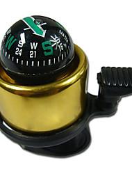 Ouro bicicleta Bell com Compass
