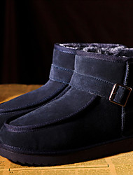 Men's Winter Buckle Ankle Boots