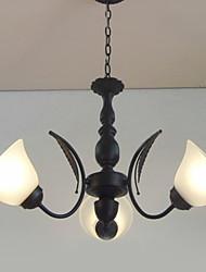 Kronleuchter, 3 Light, Classic Lighting Up Malerei Metall
