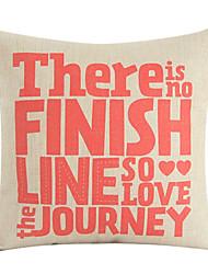 """18 """"Il ya No Finish Line Coton / Lin Coussin décoratif"""
