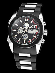 Men's Multi-Functional Military Style Steel Round Dial ABS Band Analog-Digital Wrist Watch (Assorted Colors)