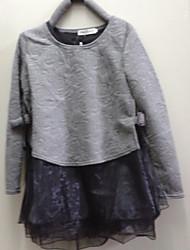 WEIMEIJIA moda de alta qualidade Organza Dress (Gray)