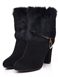 Leather Short Boots(Black)