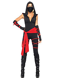 Ninja Black Terylene Women's Halloween Costume
