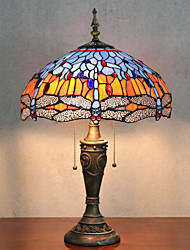 Butterflies Decoration Table Lamp, 2 Light, Tiffany Resin Glass Painting