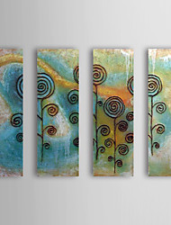 Hand Painted Oil Painting Abstract Flowers with Stretched Frame Set of 4 1311-AB1020