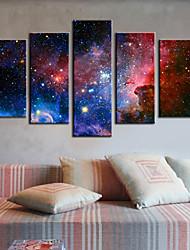 Натянутым холстом печати абстрактный искусства Galaxy Набор из 5