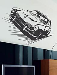 Transport Sports Car Wandsticker