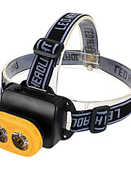 GD34 Single-Mode 3W 2xLED Fishing Headlamp (3xAA, Black+Yellow)