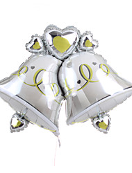 Double Bell Metallic Balloon for Christmas Decoration