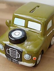 Creative Jeep Design Ceramic Coin Box