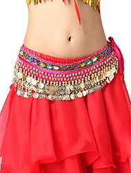 Dancewear Flannel Belly Dance Belt With Coins For Ladies(More Colors)