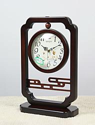 """10 """"Retro Tipo Brown Tabletop Clock"""