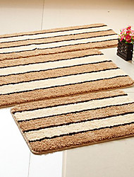 Bath Rug Polyester Microfiber Light Tan