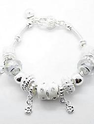(1 pc) d'alliage d'argent Charm Bracelet de Sweet 7.5cm femmes (Silver)