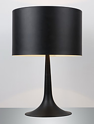 MAISHANG® Gentleman Modern Floor Light Black Drum Shade