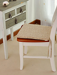 """Chair Pad, Cotton/Polyester 15""""*17"""", Leaves Pattern"""
