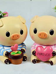 Bande dessinée heureuse enfants de porc boîtes à monnaie