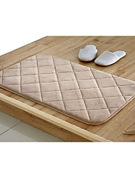 Bath Mat Memory Foam Beige Diamond 20 x 31""