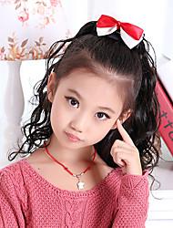 Stylish Asymmetrical Wave Ponytail Children's Hair Extension(Black)