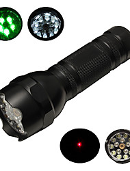 ZY-507 3-Mode 15xLED azul / verde / White Light Lanterna com Laser Pointer (3xAAA, Preto)