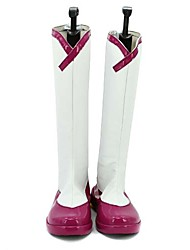 From The New World White and Fuschia PU Leather Boots