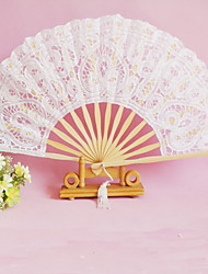 Pretty White Lacelike Hand Fan