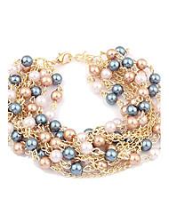 lureme®multi-слоев жемчуг браслет-цепочка