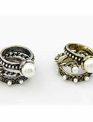 Women's Alloy Ring Imitation Pearl Alloy