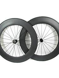 Farsports-700c carretera 88mm Full Carbon Tubular Carretera Ruedas de bicicletas