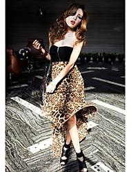 Vestido Tenedor Abierto de gasa Leopard de Fashiongirl Mujeres