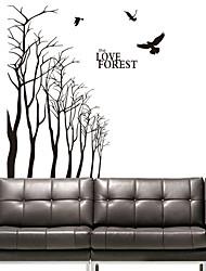 Botaniques amour de la forêt stickers muraux