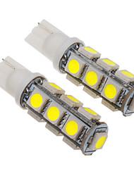 T10 2.5W 13x5060SMD 200-230LM 6000-6500K Cool White Light LED Bulb for Car (12V)