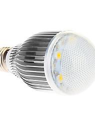 E27 7W 7xHigh Мощность 490LM 6000K Холодный белый свет Светодиодные лампы глобус - Серебряная гарантия (85-265В)