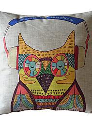 Прохладный Сова декоративным покрытием Подушка