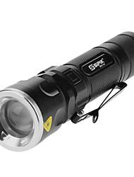 Sipik SK96 3-AAA 5-Mode del Cree XM-L T6 LED linterna del zumbido con clip (1000LM, 1x18650/3xAAA, Negro)