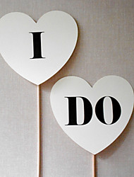 "Wedding Décor ""I DO"" Heart Photography Props for"