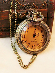 Meizhilan Vintage Tawny Pocket Watch