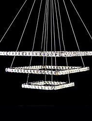 LED pendente di cristallo, 92 LED, Moderno Chic Acciaio inossidabile Placcatura