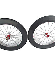 Farsports 700c Road Bike/Bicycle 88mm Depth*23mm Width Full Carbon Clincher Wheelset