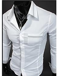 Dell'uomo cotone a maniche lunghe T-shirt