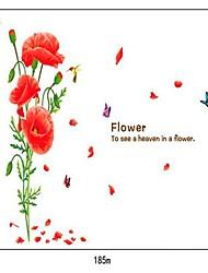 Кукуруза Мак цветочным узором DIY клей Съемный Наклейки на стены