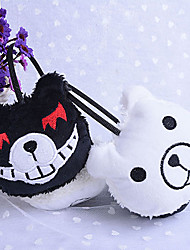 Jewelry Inspired by Dangan Ronpa Monokuma Anime/ Video Games Cosplay Accessories Earrings White / Black Faux Fur Male