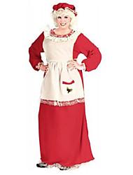 Costume de Noël de Mme Claus rouges Polyester Femmes