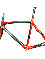 Full Carbon Road Bicycle/Bike Red Frame with Front Fork