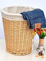 Stile giapponese panno bianco Liner Basket archiviazione