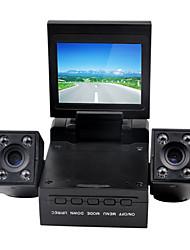 2.0 pouces LCD double caméra voiture DVR Video Recorder