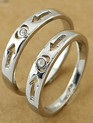 Silver Wedding Couple Ring(Random Size,A Pair)